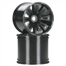 Axial 8-Spoke 40 Series Oversize Wheel - Black (2)