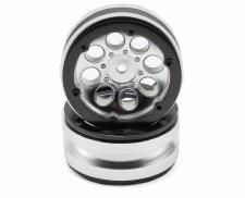 Axial 8-Hole 1.9 Beadlock Wheels - Satin Chrome (2)