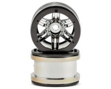 Axial 2.2 Rockstar Beadlock Wheels - Chrome (2)