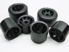 CRC GTR Wheels for Rubber Tires (Black) (4)