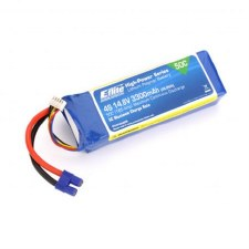Eflite 14.8V 3300mah 4S 50C Lipo Battery with EC3 Connector