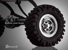 Gmade VR01 Rock Crawler Chrome Beadlock Wheels (2)