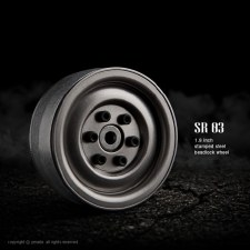 Gmade SR03 Rock Crawler Beadlock Uncoated Steel Wheels (2)