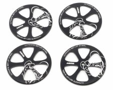 Hudy Aluminum Set-Up Wheels for 1/10 Touring Cars (4)