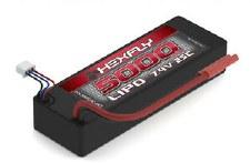 Hexfly 7.4V 5000mah 2S 25C Lipo Battery with Banana 4.0 Plugs