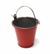 1/10 Scaler Small Tin Pail Red
