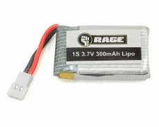 1S 3.7V 300mAh Lipo Battery; O
