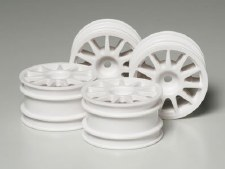 Tamiya M-Chassis Suzuki Swift Wheels (4) (White)