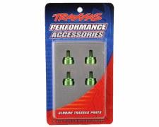 Aluminum Shock Caps,Grn (4):