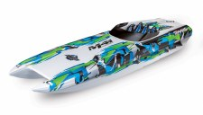 "Traxxas DCB M41 40"" Catamaran Brushless Ready to Run Race Boat (Green)"
