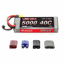 "Venom ""Sport Power"" 7.4V 5000mah 2S 40C Lipo Battery with Universal Connector"