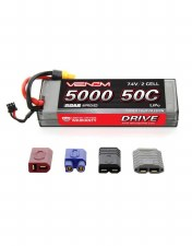 Venom 7.4V 5000mah 2S 50C Lipo Battery with Universal Connector