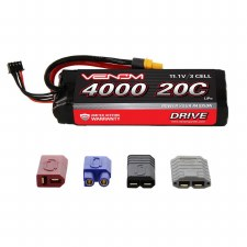Venom 11.1V 4000mah 3S 20C Lipo Battery with Universal Connector