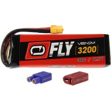"Venom ""Fly"" 11.1V 3200mah 3S 30C Lipo Battery with Universal Connector"