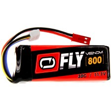 "Venom ""Fly"" 11.1V 800mah 3S 30C Lipo Battery with JST Connector"