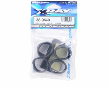 XRAY Front and Rear Tires & Inserts - 40 Degree (2)