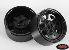 "RC4WD 5 Lug Wagon 1.9"" Steel Stamped Beadlock Wheels (Black) (4)"