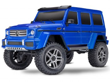 Traxxas TRX-4 1/10 Trail Crawler Truck w/ Mercedes Benz G500 4x4 Squared Body (Blue)