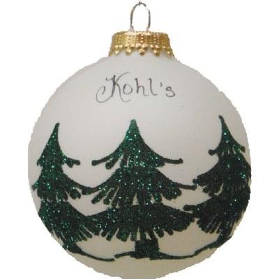 KOHLS TREE FARM GLASS BALL