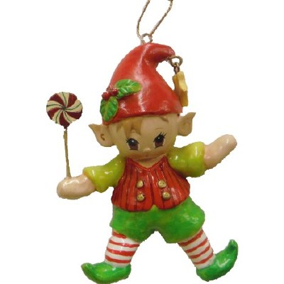 ELF WITH PINWHEEL LOLLIPOP