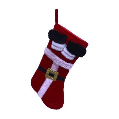 SANTA LEGS IN STOCKING