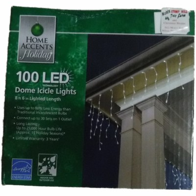100 COUT LED DOME ICICLE LIGHTS
