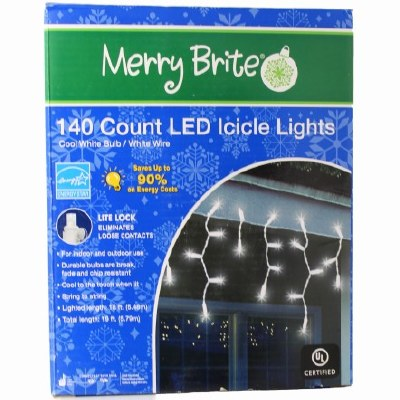 140 CT LED ICICLE LIGHTS BOX
