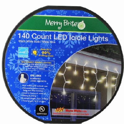 140 CT LED ICICLE LIGHTS