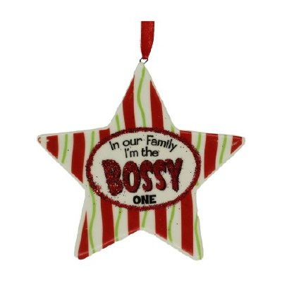 BOSSY ONE FAMILY ORNAMENT