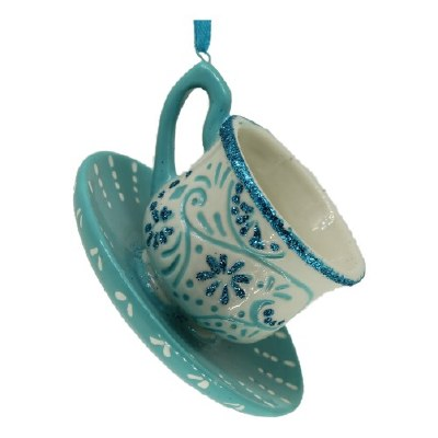 TEA CUP WHITE AND BLUE