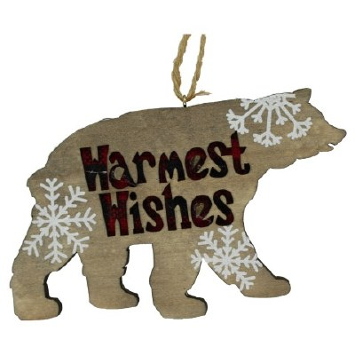 LAZER CUT BEAR WARM WISHES