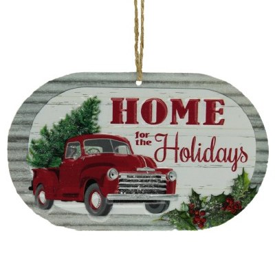 HOME FOR THE HOLIDAYS METAL SIGN