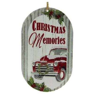 CHRISTMAS MEMORIES METAL SIGN