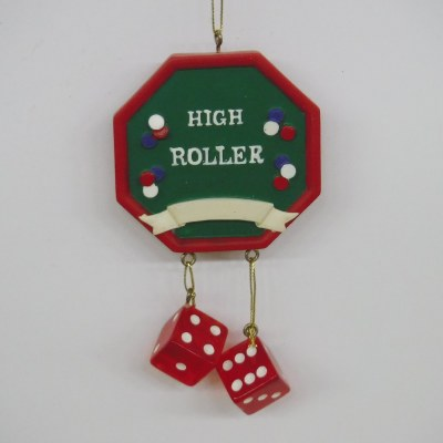 HIGH ROLLER  WITH DICE DANGLE