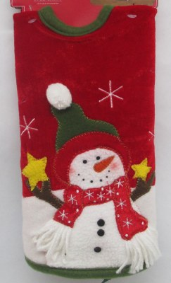 """22"""" RED WITH SNOWMAN TREE SKIRT"""