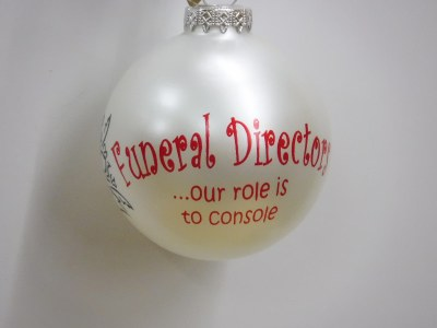FUNERAL DIRECTOR BALL - GLASS