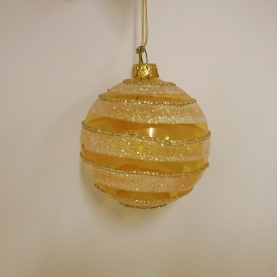 AMBER GLASS BALL