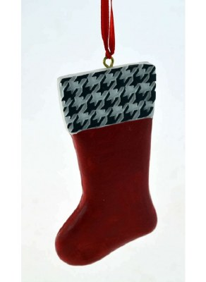 STOCKING ORN. RED AND BLACK