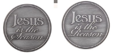 HOLIDAY COIN  2 SIDED