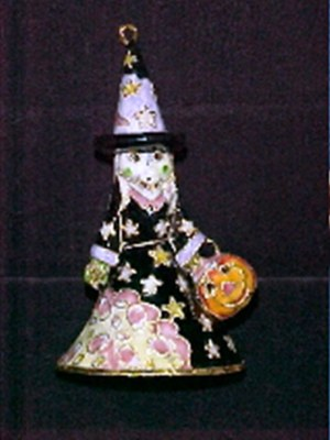 WITCH BELL CLOISONNE