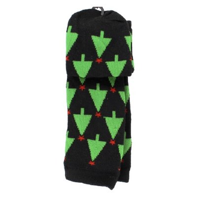 BLACK CHRISTMAS TREE SOCKS
