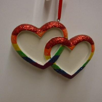 DOUBLE RAINBOW HEARTS