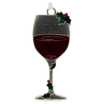 LETS BE JOLLY WINE GLASS