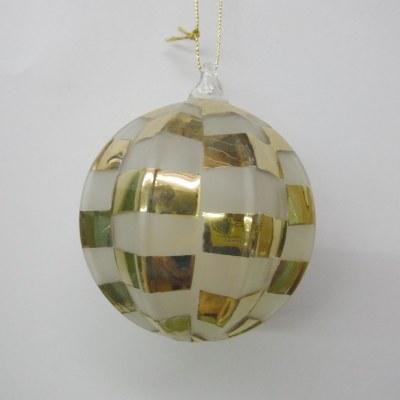 GLASS CHECKED BALL
