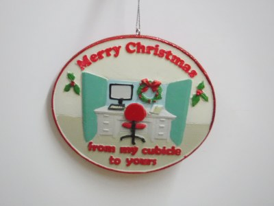 MERRY CHRISTMAS CUBICLE