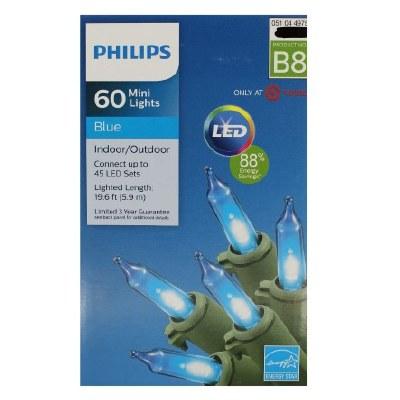 60CT MINI LIGHTS LED BLUE