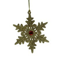 GOLD SNOWFLAKE WITH GEM