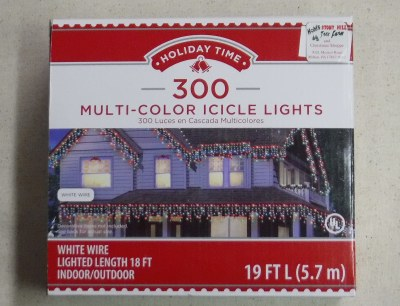 300 COUNT MILTI ICICLE LIGHTS