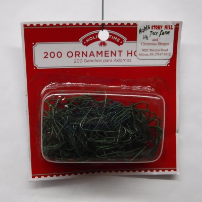 200 GREEN ORNAMENT HOOKS