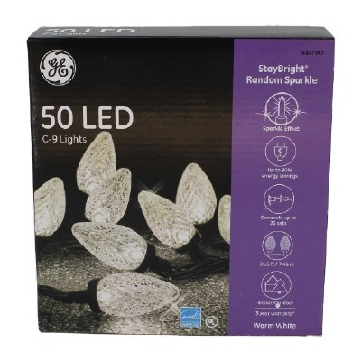 50 COUNT LED CLEAR C-9 TEXTURED